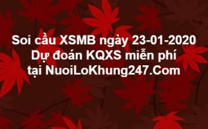 Soi cầu XSMB ngày 23–01–2020